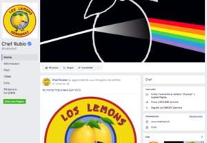 Lemon Pills sulla copertina della pagina Facebook di Chef Rubio