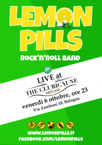 Lemon Pills Rock Band live al Cluricaune Irish Pub Bologna