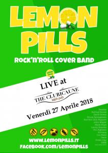 LEMON PILLS Rock band Live al Cluricaune 27 Aprile 2018